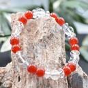 Bracelet Cornaline et Cristal de roche